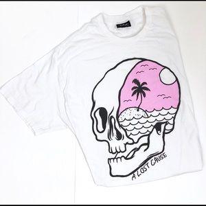 A Lost Cause Skater Skull T-Shirt